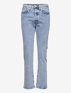 501 CROP SAMBA TANGO SURGE - straight jeans - med indigo - worn in