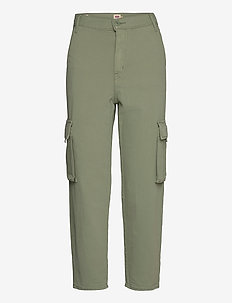 LOOSE CARGO SOFT SURPLUS SEA S - brede jeans - greens