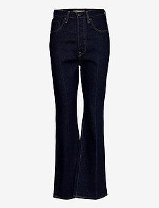RIBCAGE BOOT HIGH KEY - flared jeans - dark indigo - flat finish
