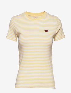 SS RIB BABY TEE AYA STRIPE PAL - t-shirts - yellows/oranges