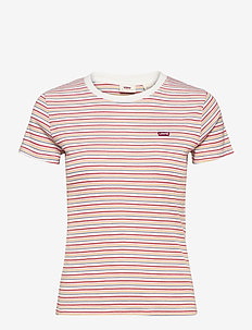 SS RIB BABY TEE PEARL POPPY RE - t-shirts - multi-color