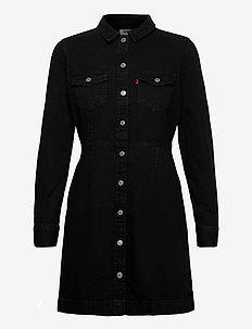 ELLIE DENIM DRESS BLACK BOOK ( - skjortklänningar - blacks