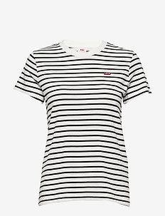PERFECT TEE BENITOITE CLOUD DA - gestreifte t-shirts - neutrals