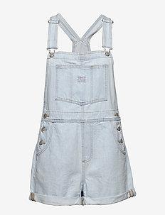 VINTAGE SHORTALL CAUGHT NAPPIN - jumpsuits - light indigo - worn in