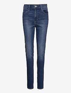 720 HIRISE SUPER SKINNY FIERY - slim jeans - med indigo - worn in