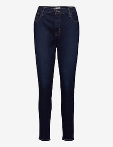 720 HIRISE SUPER SKINNY ECHO B - straight jeans - dark indigo - worn in