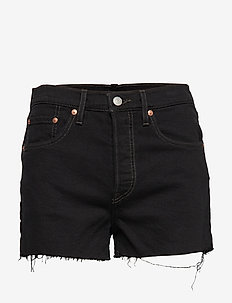 501 HIGH RISE SHORT LETS ROLL - BLACKS