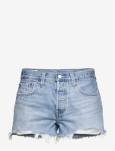 501 ORIGINAL SHORT LUXOR HEAT - denimshorts - light indigo - worn in