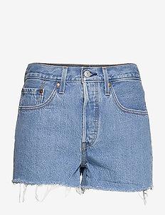 501 ORIGINAL SHORT ATHENS EMPI - jeansshorts - med indigo - flat finish