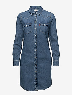 ULTIMATE WESTERN DRESS BACK TO - MED INDIGO - FLAT FINISH