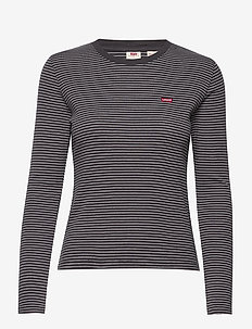 LS BABY TEE AGNES STRIPE FORGE - stribede t-shirts - neutrals