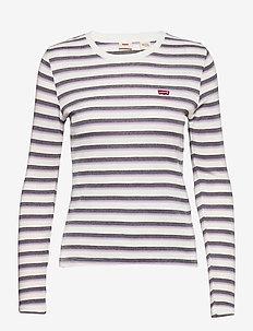 LS BABY TEE BERIMBAO LAVENDER - gestreifte t-shirts - neutrals