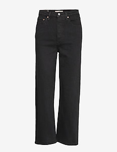 RIBCAGE STRAIGHT ANKLE BLACK S - straight jeans - blacks