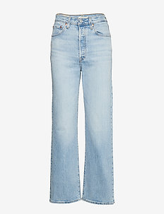 RIBCAGE STRAIGHT ANKLE TANGO L - jeans droites - light indigo - worn in