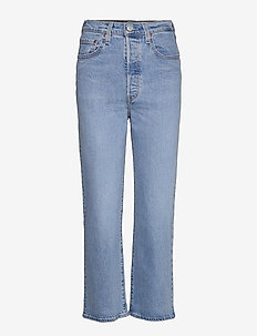 RIBCAGE STRAIGHT ANKLE TANGO G - straight jeans - light indigo - worn in