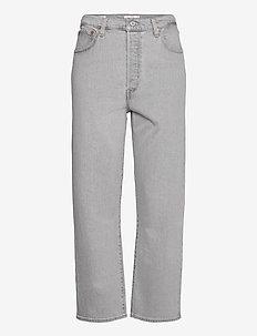 RIBCAGE STRAIGHT ANKLE AMMONIT - broeken met wijde pijpen - greys