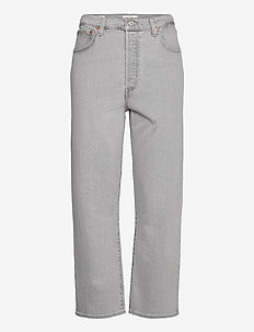 RIBCAGE STRAIGHT ANKLE AMMONIT - szerokie dżinsy - greys