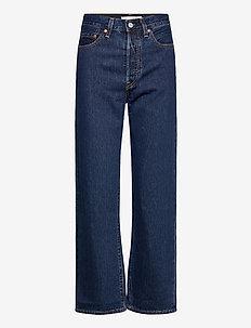 RIBCAGE STRAIGHT ANKLE NOE DAR - brede jeans - dark indigo - flat finish