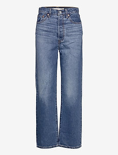 RIBCAGE STRAIGHT ANKLE NOE FOG - wide leg jeans - dark indigo - worn in