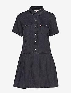 MIRAI WESTERN DRESS BLACK SHEE - skjortklänningar - blacks