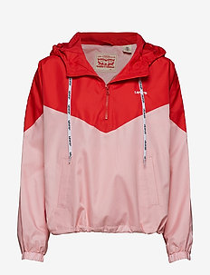 KIMORA JACKET COLORBLOCK RAGLA - REDS