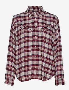 DORI WESTERN SHIRT PATRIDGE HE - long-sleeved shirts - multi-color