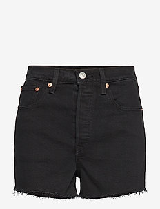 RIBCAGE SHORT LATE SHIFT - denimshorts - blacks