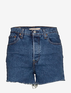 RIBCAGE SHORT CHARLESTON EROSI - denimshorts - med indigo - worn in