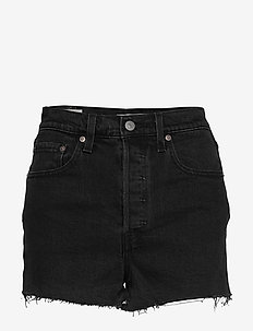 RIBCAGE SHORT BLACK BAYOU - farkkushortsit - blacks