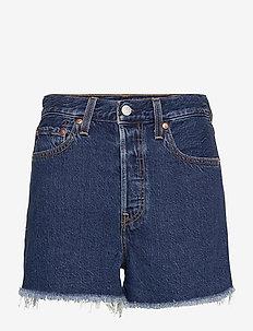 RIBCAGE SHORT NOE DARK MINERAL - denim shorts - dark indigo - worn in