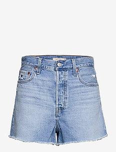 RIBCAGE SHORT BERNAL FROST - denim shorts - light indigo - worn in