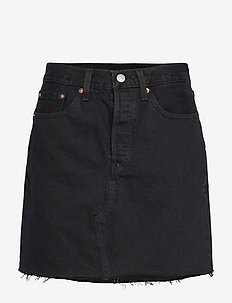 HR DECON ICONIC BF SKIRT LEFT - denim skirts - blacks