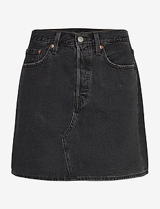 HR DECON ICNIC BFLY SKRT REGUL - jeansrokken - blacks
