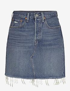 HR DECON ICNIC BFLY SKRT STUCK - jeansrokken - med indigo - worn in