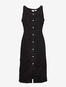SIENNA DRESS BLACK BOOK (2) - midi kjoler - blacks