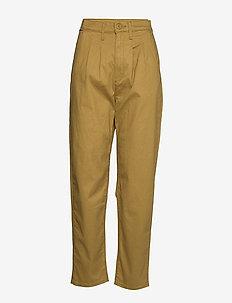 PLEATED BALLOON DULL GOLD FINE - bukser med lige ben - neutrals