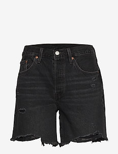 501 MID THIGH SHORT BEES KNEES - jeansowe szorty - blacks