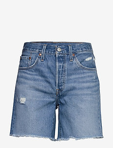 501 MID THIGH SHORT LUXOR STRE - denimshorts - light indigo - worn in