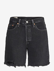 501 MID THIGH SHORT LUNAR BLAC - denimshorts - blacks