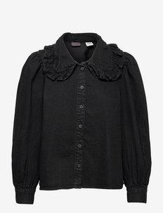 EMILIE BLOUSE BLACK ROSE X - langærmede bluser - blacks