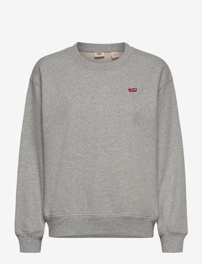 STANDARD CREW SMOKESTACK HEATH - swetry - greys