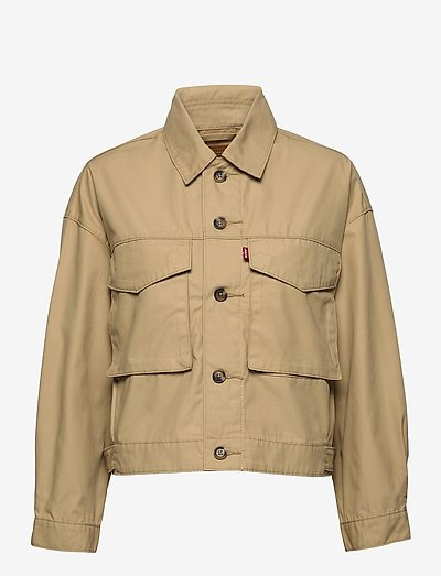 LOOSE UTILITY TRUCKER SOFT STR - utility jackets - neutrals