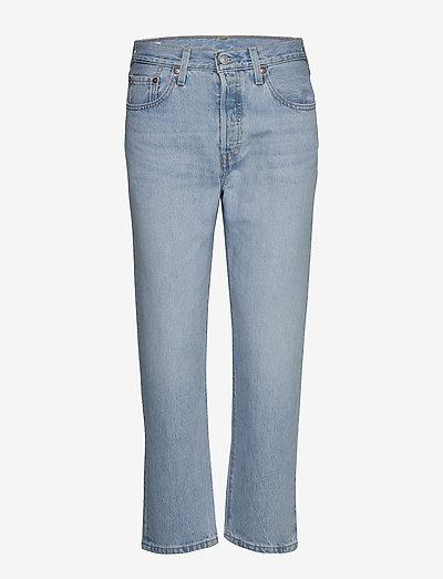 501 CROP OJAI LUXOR RA - straight jeans - light indigo - worn in
