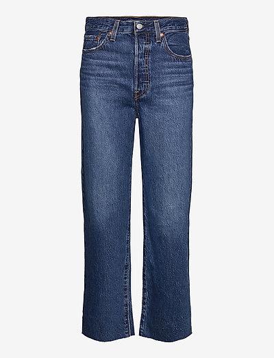RIBCAGE STRAIGHT ANKLE NOE DOW - proste dżinsy - dark indigo - worn in