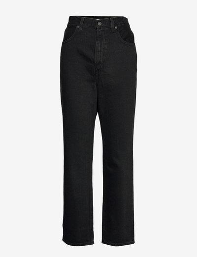 70S HIGH SLIM STRAIGHT TRAINWR - spodnie proste - blacks