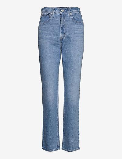 70S HIGH SLIM STRAIGHT MARIN P - proste dżinsy - light indigo - worn in