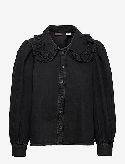 EMILIE BLOUSE BLACK ROSE X - bluzki z długimi rękawami - blacks