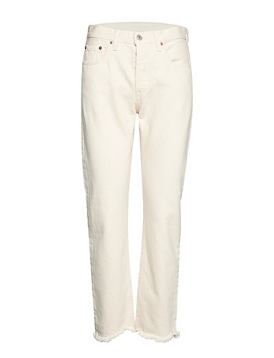 501 Crop Neutral Ground Hose Mit Geraden Beinen Creme LEVI'S WOMEN