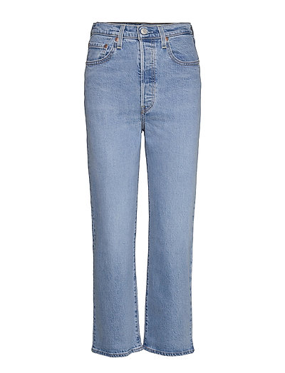 Ribcage Straight Ankle Tango G Straight Jeans Hose Mit Geradem Bein Blau LEVI'S WOMEN