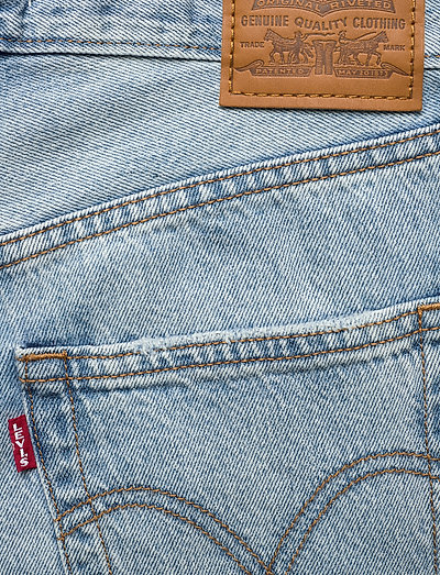 Levi´s Women Ribcage Straight Ankle Middle- Jeans Light Indigo - Worn In